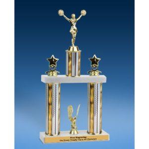"""Cheerleading Sport Figure 2 Tier Trophy 16"""""""