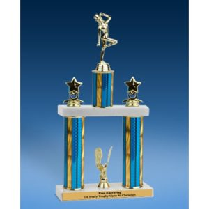 Dancing Sport Figure 2 Tier Trophy 16""