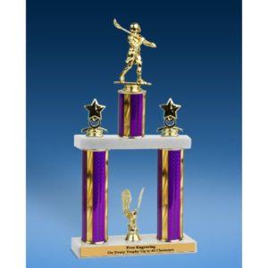 """Lacrosse Sport Figure 2 Tier Trophy 16"""""""