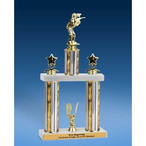 Paintball Sport Figure 2 Tier Trophy 16""