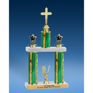 Religion Sport Figure 2 Tier Trophy 16""