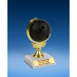 """Bowling Soft Spinner Ball Trophy 6"""""""