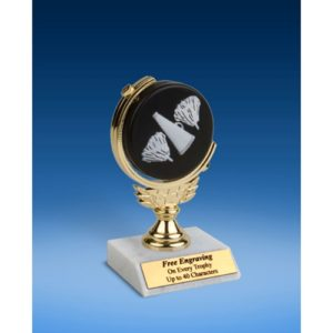 Cheerleading Soft Spinner Ball Trophy 6""