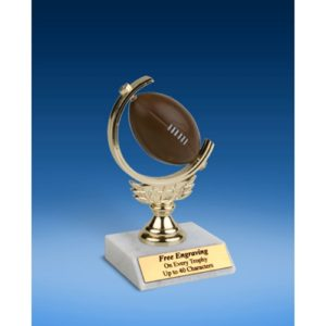 Football Soft Spinner Ball Trophy 6""