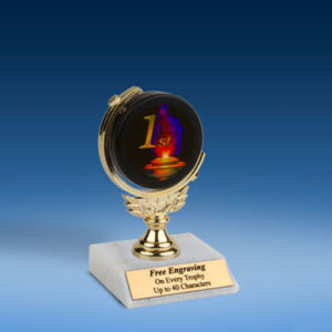 1st Soft Spinner Mylar Holder Trophy 6""