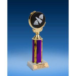 "Cheerleading Soft Spinner Ball Trophy 10"""
