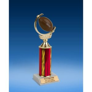 Football Soft Spinner Ball Trophy 10""