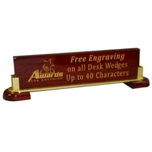 "12.5"" Rosewood & Metal Name Bar"