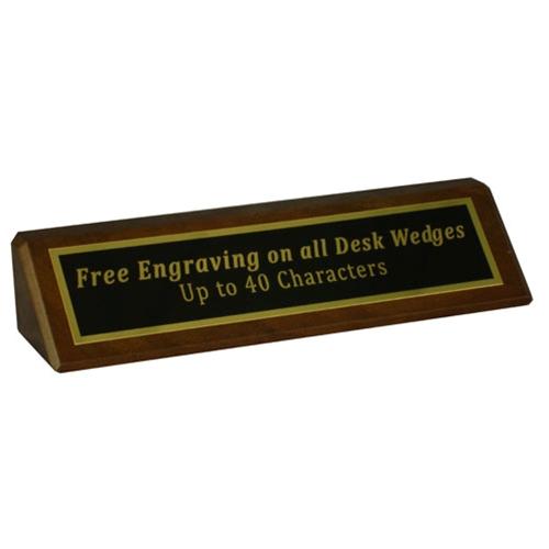 "8"" Genuine Walnut Desk Wedge"