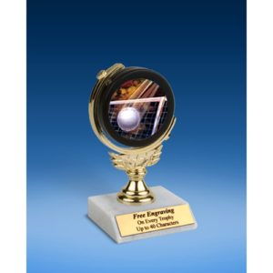 Volleyball Soft Spinner Mylar Holder Trophy 6""