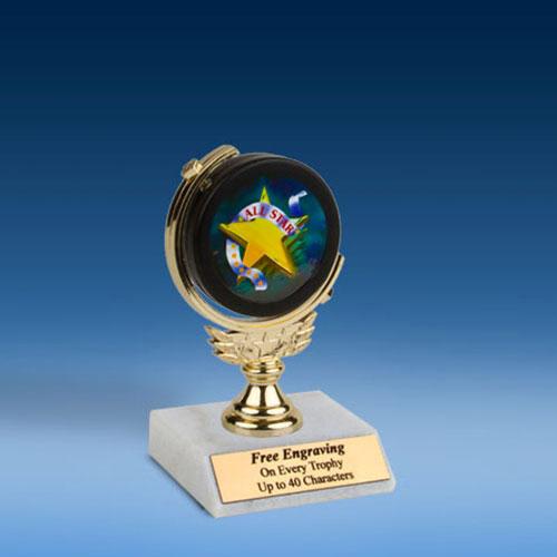 "All Star Soft Spinner Mylar Holder Trophy 6""-0"