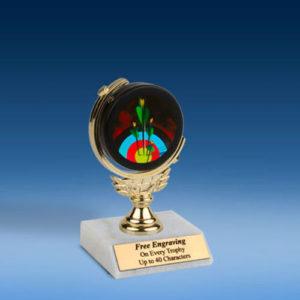 "Archery Soft Spinner Mylar Holder Trophy 6"""