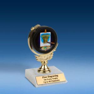 """Art Soft Spinner Mylar Holder Trophy 6""""-0"""