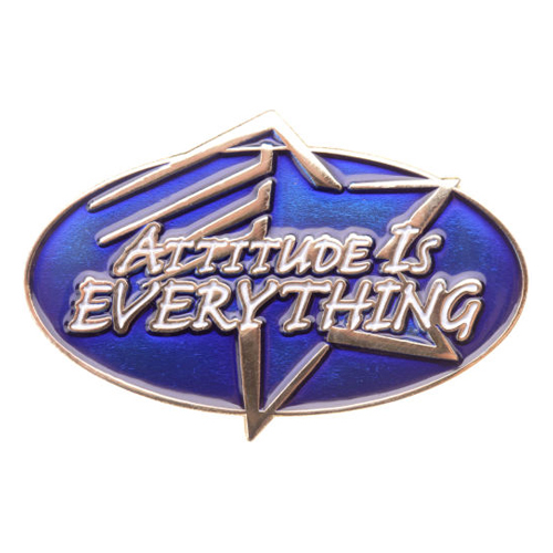 Attitude is Everything Achievement Pin