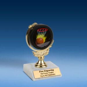 "Basketball Soft Spinner Mylar Holder Trophy 6""-0"