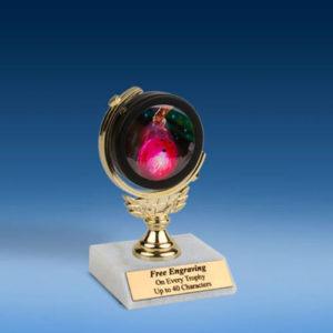 """Bowling 2 Soft Spinner Mylar Holder Trophy 6""""-0"""