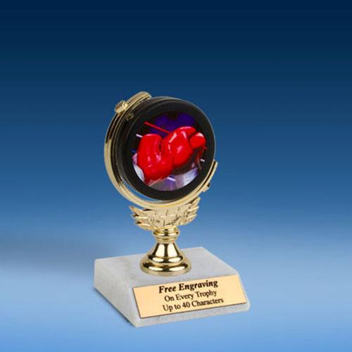 "Boxing Soft Spinner Mylar Holder Trophy 6""-0"