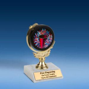 "Cheerleading Soft Spinner Mylar Holder Trophy 6""-0"
