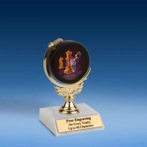 "Chess Soft Spinner Mylar Holder Trophy 6""-0"
