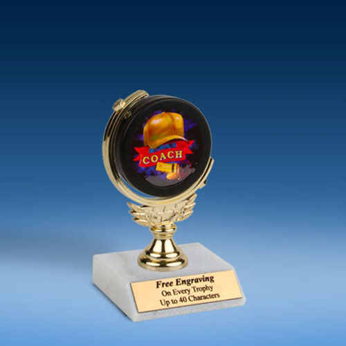 "Coach Soft Spinner Mylar Holder Trophy 6""-0"