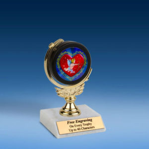 "Cupid Soft Spinner Mylar Holder Trophy 6""-0"