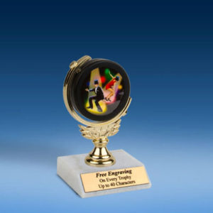 "Dance Soft Spinner Mylar Holder Trophy 6""-0"