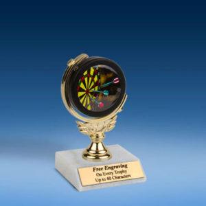 "Darts Soft Spinner Mylar Holder Trophy 6""-0"