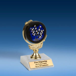 "Derby Soft Spinner Mylar Holder Trophy 6""-0"