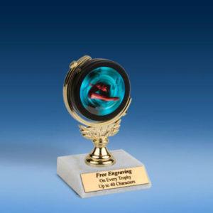 "Diving Female Soft Spinner Mylar Holder Trophy 6""-0"