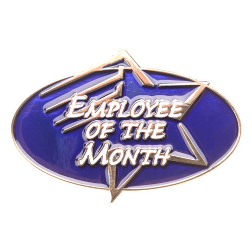 Employee of the Month Achievement Pin