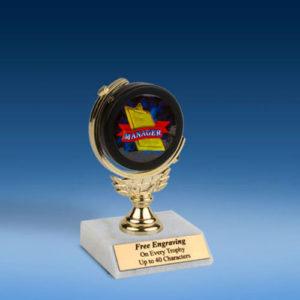 """Manager Soft Spinner Mylar Holder Trophy 6""""-0"""