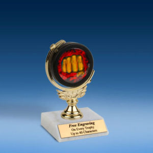 "Martial Arts Soft Spinner Mylar Holder Trophy 6""-0"