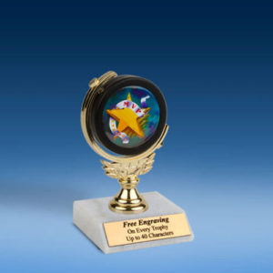 "MVP Soft Spinner Mylar Holder Trophy 6""-0"