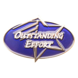 Outstanding Effort Achievement Pin-0