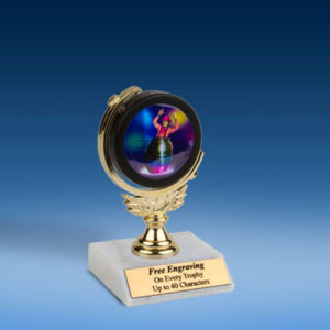 "Rodeo Clown Soft Spinner Mylar Holder Trophy 6""-0"