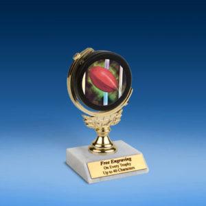 """Rugby 2 Soft Spinner Mylar Holder Trophy 6""""-0"""