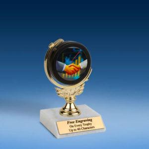 """Sales Soft Spinner Mylar Holder Trophy 6""""-0"""