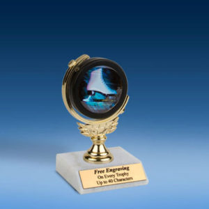 "Skating Soft Spinner Mylar Holder Trophy 6""-0"