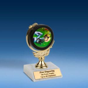 "Soccer 3 Soft Spinner Mylar Holder Trophy 6""-0"