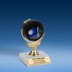 """Softball Soft Spinner Mylar Holder Trophy 6""""-0"""