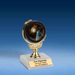"""T-Ball Soft Spinner Mylar Holder Trophy 6""""-0"""