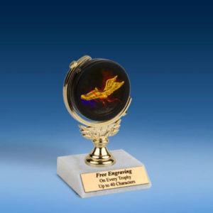 """Track Soft Spinner Mylar Holder Trophy 6""""-0"""