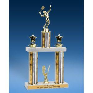 """Tennis Sport Figure 2 Tier Trophy 16"""""""