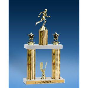 "Track Sport Figure 2 Tier Trophy 16"""