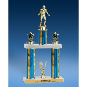 Wrestling Sport Figure 2 Tier Trophy 16""