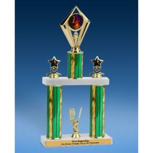 """1st Place Diamond 2 Tier Trophy 19"""""""