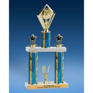 """Hockey Diamond 2 Tier Trophy 19"""""""