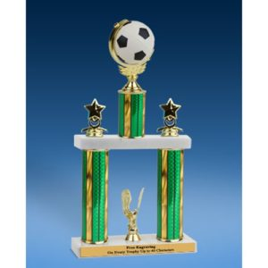 Soccer Spinner Ball 2 Tier Trophy 19""