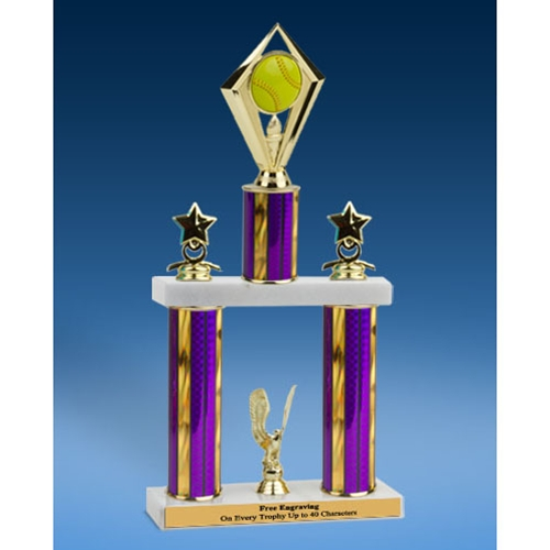 Softball Diamond 2 Tier Trophy 19""