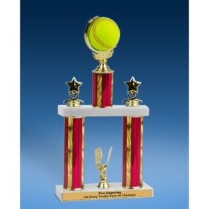 Softball Spinner Ball 2 Tier Trophy 19""